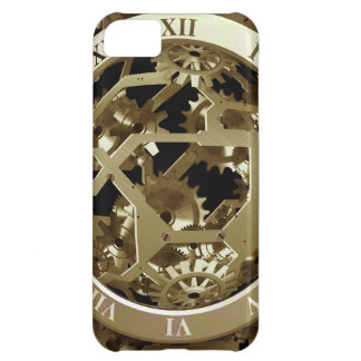Gold Clocks and Gears Steampunk Mechanical Gifts iPhone 5C Cases