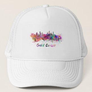 Gold Coast skyline in watercolor Trucker Hat