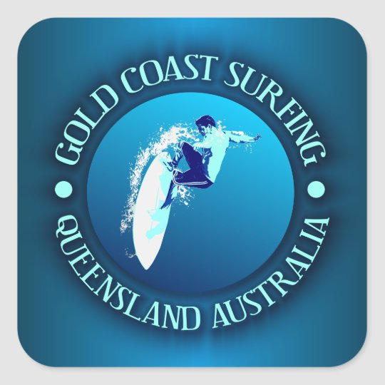 Gold Coast Surfing Square Sticker