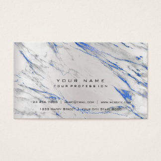 Gold Cobalt Blue Marble Vip Pearly Silver Abstract Business Card