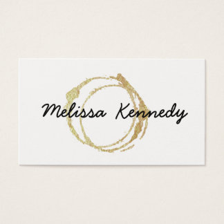 Gold Coffee Shop Business Cards Cup Stains