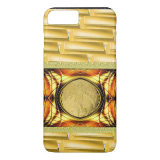 Gold Coin Abstract Gold Emblem iPhone 7 Case