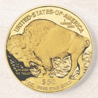 Gold Coin Coaster