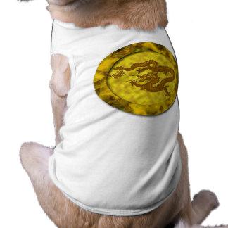 Gold Coin Dragon Pet Tee Shirt