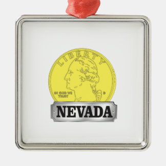 Gold Coin of Nevada Metal Ornament