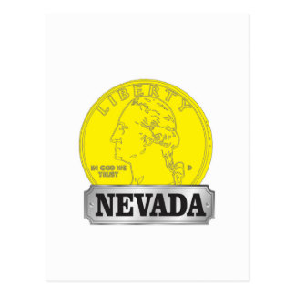 Gold Coin of Nevada Postcard