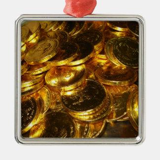 GOLD COINS 1 METAL ORNAMENT