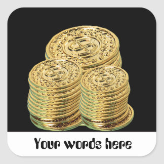 Gold coins or tokens gambling customizable sticker
