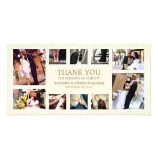 GOLD COLLAGE | WEDDING THANK YOU CARD CUSTOM PHOTO CARD