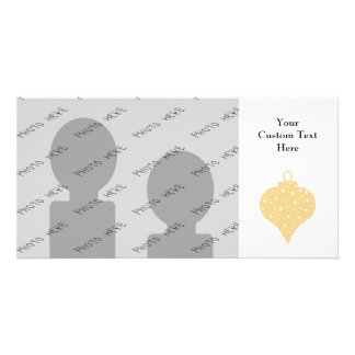 Gold Color Christmas Bauble Design. Picture Card