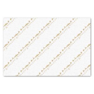 Gold color Elegant Merry Christmas Decoration Tissue Paper