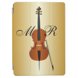 Gold Colored Monogrammed Cello iPad Air Cover