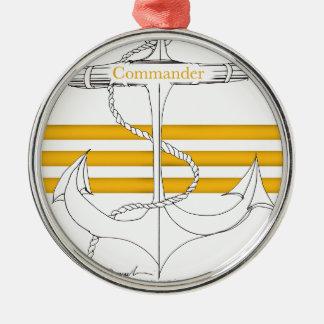 gold commander, tony fernandes metal ornament