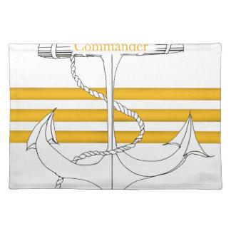 gold commander, tony fernandes placemat