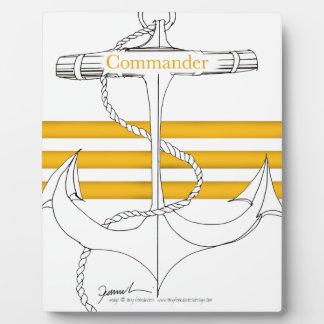 gold commander, tony fernandes plaque