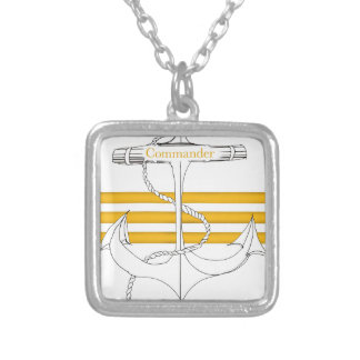 gold commander, tony fernandes silver plated necklace