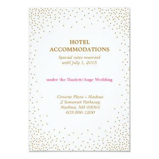 GOLD CONFETTI accommodations card