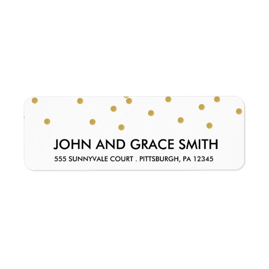 Gold Confetti Address Label