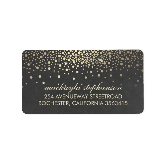 Gold Confetti and Fireflies Chalkboard Wedding