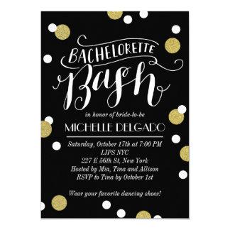 Gold Confetti Bash | Bachelorette Party Card
