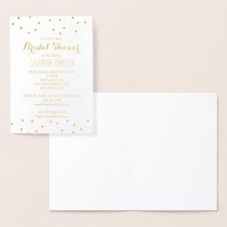 Gold Confetti Bridal Shower Foil Card