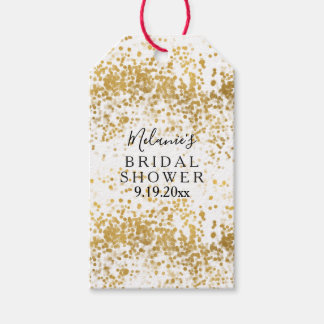 Gold Confetti Bridal Shower Gift Tags