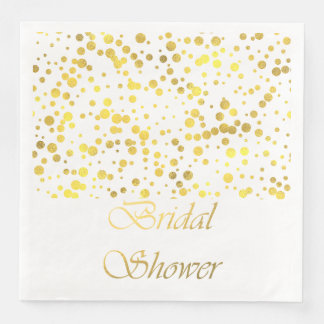 Gold Confetti Bridal Shower Napkins Paper Napkin