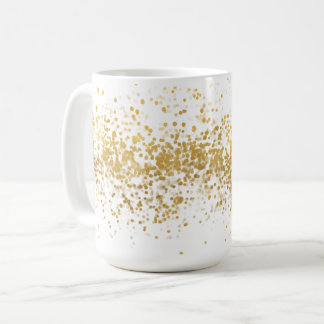 Gold Confetti Coffee Mug