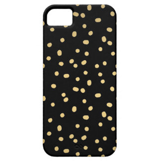 Gold Confetti Dots iPhone 5 Case
