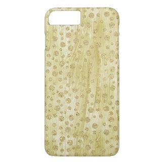 Gold Confetti faux Glitter Paint iPhone 7 Plus Case
