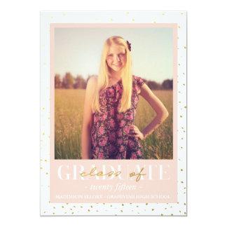 Gold Confetti | Graduation Announcement