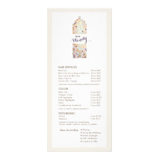 Gold Confetti Hair Spray Hair Salon Service Menu