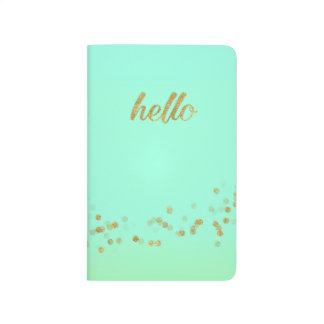 Gold Confetti Hello Green by Jo Sunshine Journal