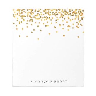 Gold Confetti Notepad
