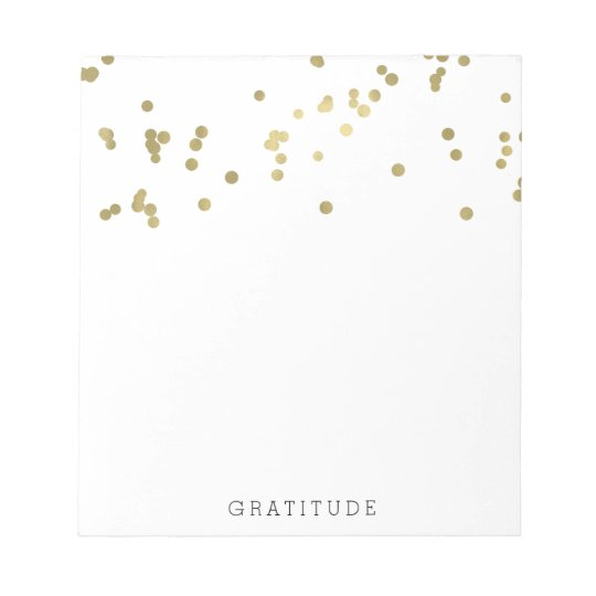 Gold Confetti Personalized Notepad