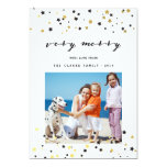 Gold Confetti Stars | Holiday Photo Card