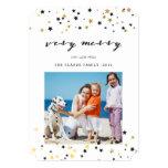 Gold Confetti Stars   Holiday Photo Cards
