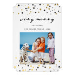Gold Confetti Stars | Holiday Photo Cards Announcement