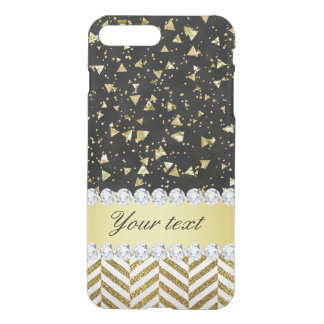 Gold Confetti Triangles Chevrons Diamond Bling iPhone 8 Plus/7 Plus Case