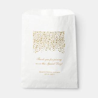 Gold Confetti Wedding    Personalize Favour Bag
