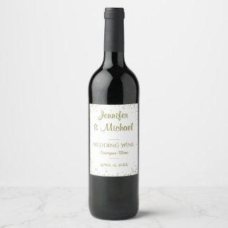 Gold Confetti Wine Label