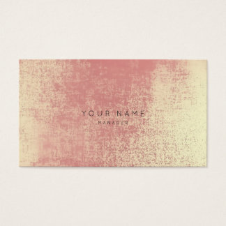 Gold Coral Peach Ombre Glass Vip Appointment Business Card
