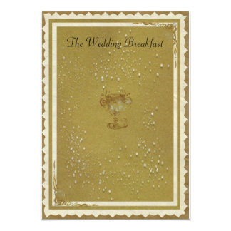 Gold & Cream The Wedding Breakfast Card
