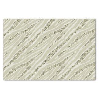 Gold Cream Zebra Print Glitter Tissue Paper