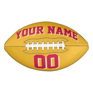 GOLD CRIMSON AND WHITE Custom Football