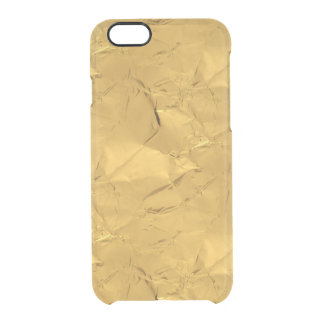 Gold Crinkle Clear iPhone 6/6S Case