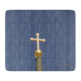 Gold Cross Cutting Board