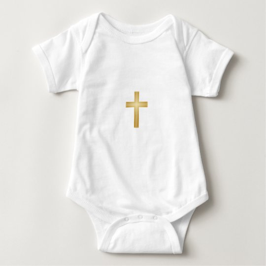 Gold Cross/Easter Baby Bodysuit