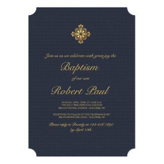 Gold Cross Religious Invitation