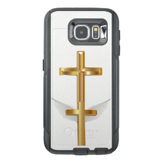 Gold Cross White Wings Cell Phone Case